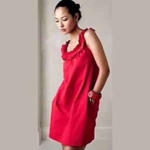 Anthropologie FEI SZ 4 Sleeveless Red Dress